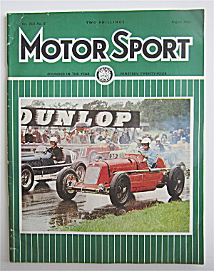 Motor Sport Magazine August 1966 Cars Racing Oulton