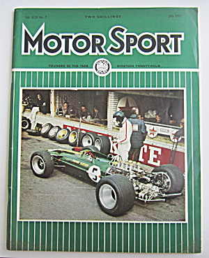 Motor Sport Magazine July 1967 Back In Business