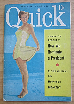 Quick Magazine June 16, 1952 Esther Williams