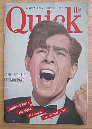 Quick Magazine July 21, 1952 Johnnie Ray