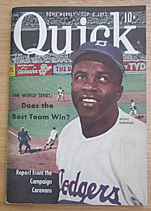 Quick Magazine October 6, 1952 Baseball Jackie Robinson