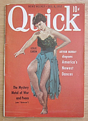 Quick Magazine December 8, 1952 Leslie Caron