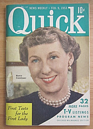 Quick Magazine February 9, 1953 Mamie Eisenhower