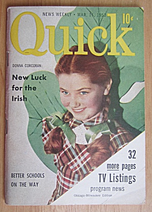 Quick Magazine March 16, 1953 Donna Corcoran