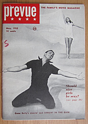 Prevue Magazine May 1952 Gene Kelly Dancing