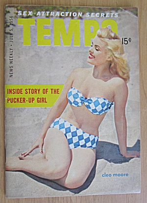 Tempo Magazine July 5, 1954 Cleo Moore