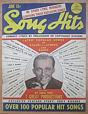 Song Hits Magazine June 1945 Bing Crosby