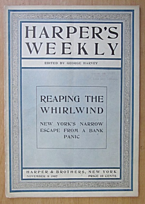Harper's Weekly Magazine November 9, 1907 Whirlwind