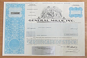 1988 General Mills Incorporated Stock Certificate
