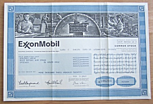 2000 Exxon Mobil Corporation Stock Certificate