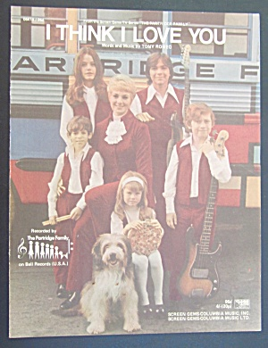 1970 I Think I Love You Sheet Music Partridge Family