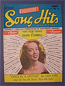 Song Hits Magazine - August 1950 - Lisa Kirk Cover
