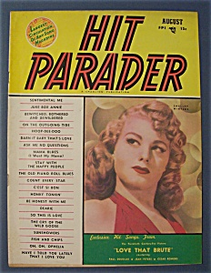 Hit Parader Magazine -aug 1950- Shelley Winters Cover