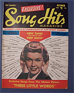 Song Hits- October 1950 -doris Day