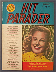 Hit Parader Magazine - Jan 1951 - June Allyson Cover