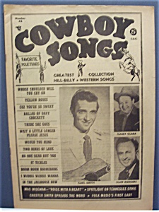 Cowboy Songs Magazine - Aug 1955 - Smith, Clark/rodgers