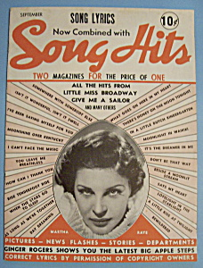 Song Hits - September 1938 - Martha Raye