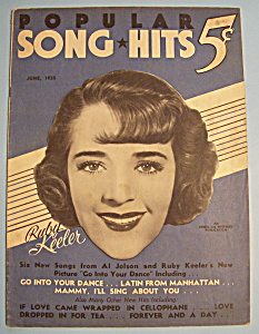 Popular Song Hits - June 1935 - Ruby Keeler