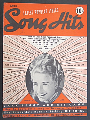 Song Hits April 1939 Priscilla Lane Cover