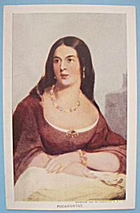 Pocahontas Postcard (1907 Jamestown Exposition)