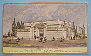1915 Pan Pacific Exposition Carnation Milk Postcard
