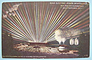 Ryan Electric Color Scintillator Postcard-panama Expo