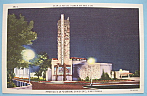 Standard Tower To The Sun Postcard-calif./pacific Expo