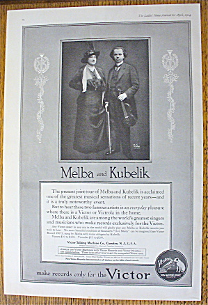 1914 Victor Records With Melba & Kubelik