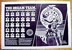 1983 Mc Donald's Dream Team With Kenny Smith