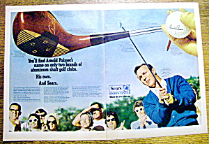 Vintage Ad: 1969 Sears Sports Center W/arnold Palmer