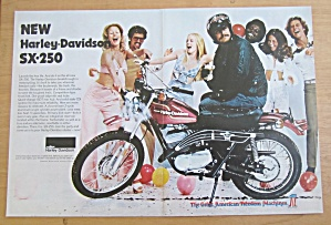 1974 Harley Davidson Sx-250 Motorcycle With Man Sitting