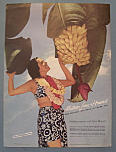 Vintage Ad: 1940 Matson Line To Hawaii