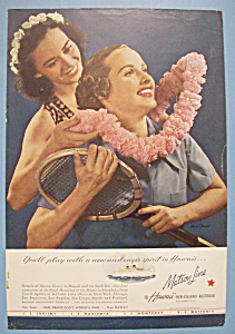 Vintage Ad: 1939 Matson Line To Hawaii