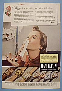 Vintage Ad: 1940 Hamilton Watch