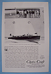 1930 Chris Craft With 26 Foot Runabout