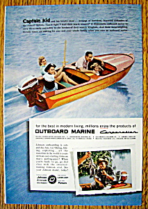 Vintage Ad: 1957 Outboard Marine With Captain Kid
