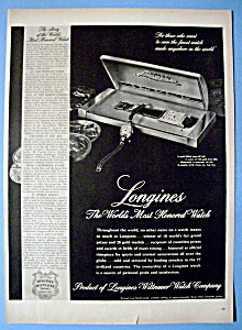 Vintage Ad: 1948 Longines Watch