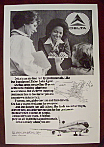 Vintage Ad: 1978 Delta Airlines