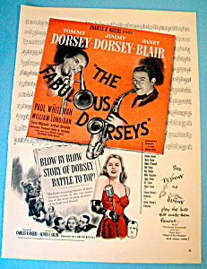 Vintage Ad: 1947 The Fabulous Dorseys