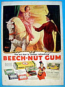 1937 Beech Nut Gum W/ringling Bros By Frederic Stanley
