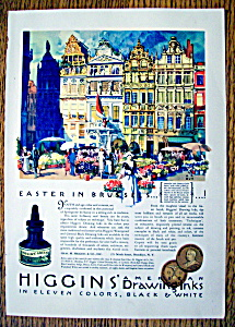 Vintage Ad: 1931 Higgins' American Drawing Inks