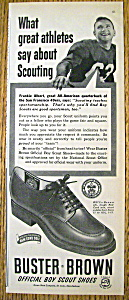 Vintage Ad: 1950 Buster Brown Shoes W/frankie Albert