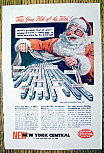 1949 New York Central System With Santa Claus