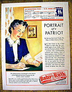 1943 Curtiss Baby Ruth With Woman Writing Soldier