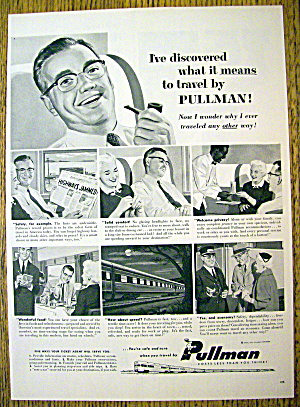 1955 Pullman With Man Relaxing On The Train