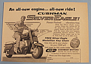 1961 Cushman Silver Eagle W/man Riding Motor Scooter