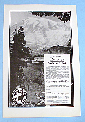 1927 Northern Pacific With Rainier National Park