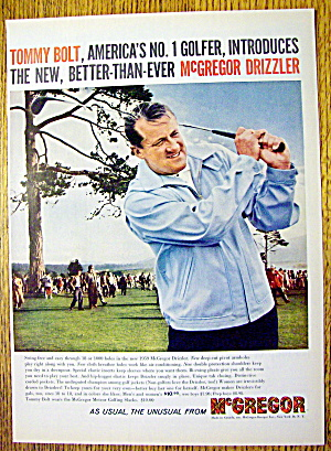 1959 Mcgregor Drizzler Coat With Golfer Tommy Bolt