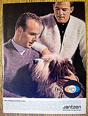 1963 Jantzen With Frank Gifford And Paul Hornung