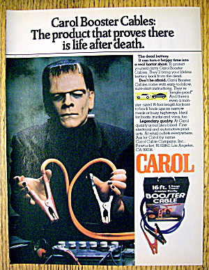 1982 Carol Booster Cables With Frankenstein
